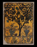Book cover with tree, birds, and insects