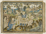 "Embroidered picture: ""Abraham entertaining the Angels"", 2nd half of the 17th century"