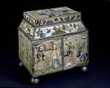 "Embroidered box: ""Scenes from the Life of Abraham"""