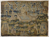 "Embroidered picture: ""David and Bathsheba"""