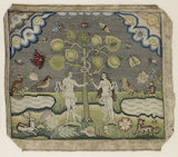 "Embroidered picture: ""The Temptation of Adam and Eve"""