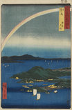 Woodblock print - A fine evening on the coast in Tsushima Province (Tsushima, kaigan yūbare) - No.69