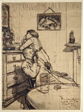 Study for 'Ennui': Hubby and Marie