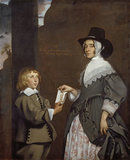 Hester Tradescant and her stepson John, 1645