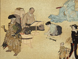 Screen depicting the four classes of Edo Japan