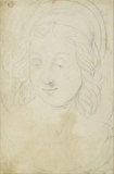 Verso: Head of the Virgin