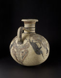 Bichrome IV barrel-shaped Cypro-Phoenician jug
