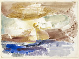 The Sun descending - Study 3, 1945