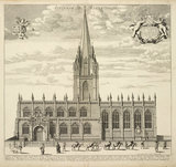 Ecclesia B. Mariae Virginis (University Church of St Mary the Virgin), from 'Oxonia illustrata' (1675)