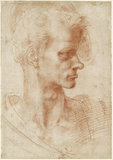 Recto: Study of a Man's Head