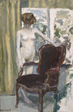 Interior with nude Figure