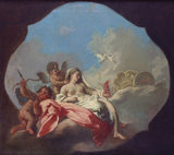 Venus and Cupid with a Putto in the Clouds
