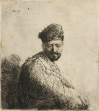 Bare-headed, in furred oriental Cap and Robe: The Artist's Father