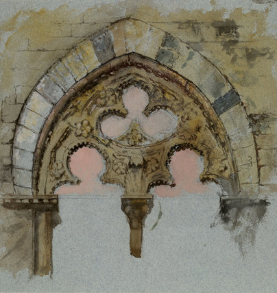 A Window of the Palazzo Tolomei, Siena, showing the rude and unsymmetrical Placing of massy Stones