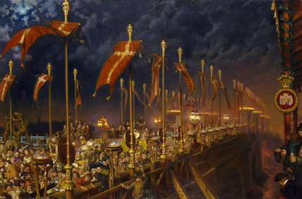 London Bridge on the Night of the Marriage of the Prince and Princess of Wales