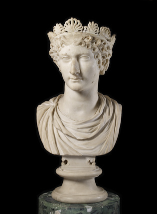 Head of Agrippina minor with diadem