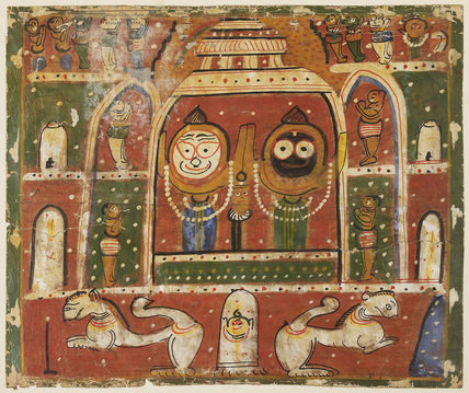 Jagannatha Triad in the shrine at Puri