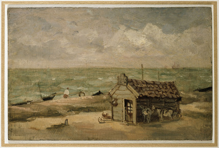 A Fisherman's Hut by the Sea
