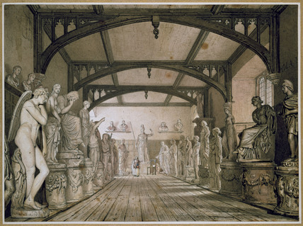 The sculpture Gallery in the Examinations Schools, Oxford