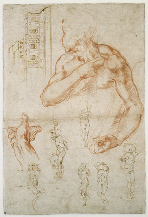 Various Studies for the Sistine Ceiling and the Tomb of Pope Julius II