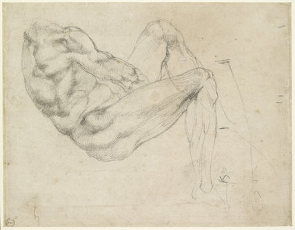 Study of a recumbent male Figure