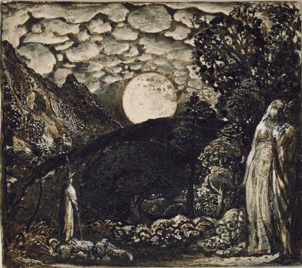 Shepherds under a Full Moon