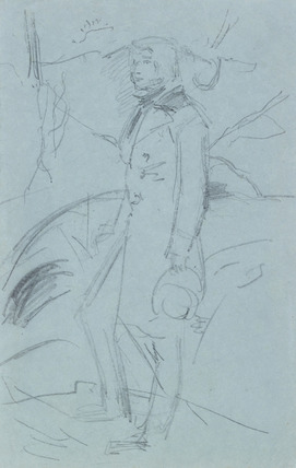 Preliminary Sketch for the Portrait of John Ruskin