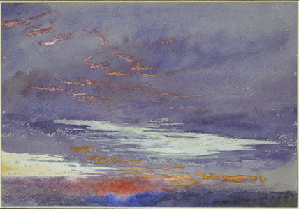 Study of Dawn: purple Clouds, Denmark Hill, 20 March 1868
