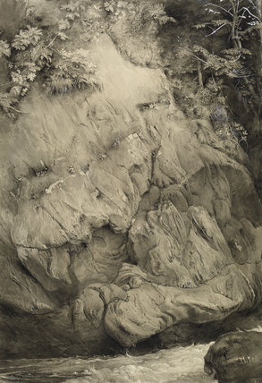 Study of Gneiss Rock, Glenfinlas