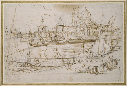 Venice: The Dogana and S. Maria della Salute from the Molo di Terranova
