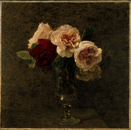 Still Life: pink and red Roses