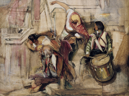 Study for the 'Proclamation of Don Carlos'