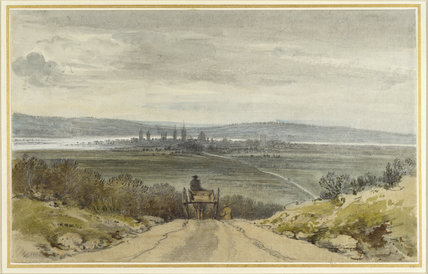 Oxford from Shotover Hill, from Recollection