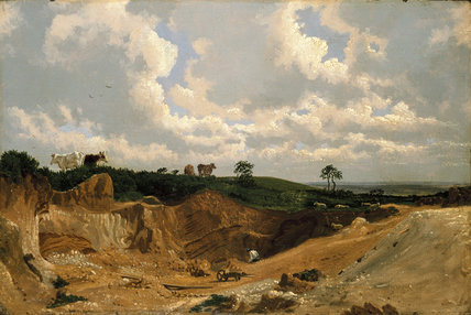Gravel Pit on Shotover Hill, near Oxford