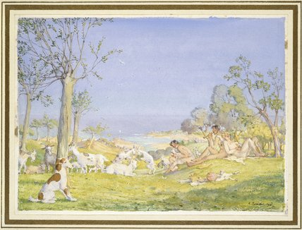 Landscape with Shepherds and Goats