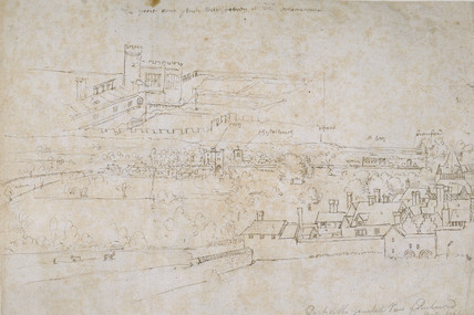 Sheets of Studies of the Palaces of Hampton Court and Richmond and surrounding Countryside