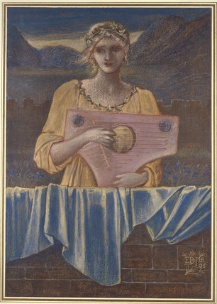 Study of a Woman with a Musical Instrument