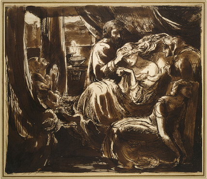 The Death Of Lady Macbeth By Dante Gabriel Rossetti At
