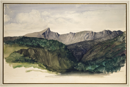 Study of a Distant Range of Mountains