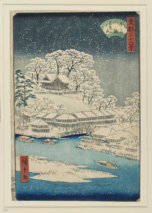 Woodblock print - Imado Bridge and Matsuchi Hill (Imado Bashi Matsuchiyama)