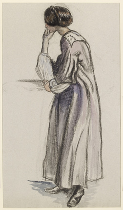 Figure study for the girl on the right of 'Dans le palais'