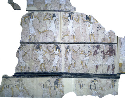 fragment of wallpainting from the Tomb of the Dancers