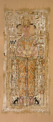Shroud of Nespawtytawy, inscribed in hieroglyphs