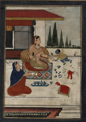 Bala Krsna with two women