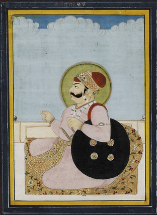 Portrait of a seated Raja