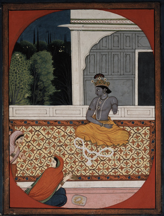 Krsna discards his garland