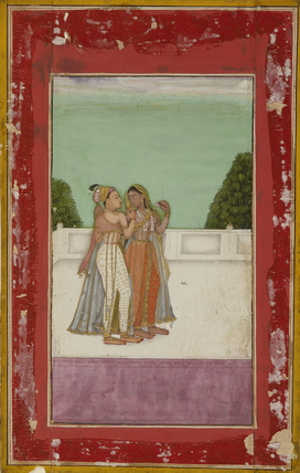 Lovers on terrace
