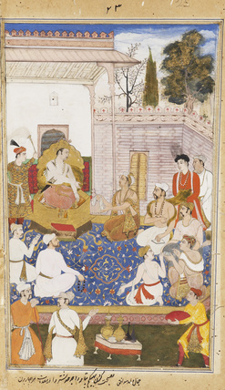 Bhisma and others giving advice to Yudhisthira