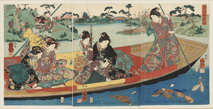 Triptych - Ladies in a boat
