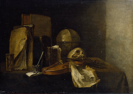 Vanitas Still life with a Violin, 1652